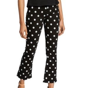 7 for all Mankind Polka Dot Cropped Flare sz 27